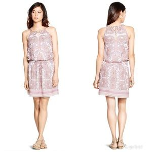 WHBM Sleeveless Paisley Blouson Short Dress